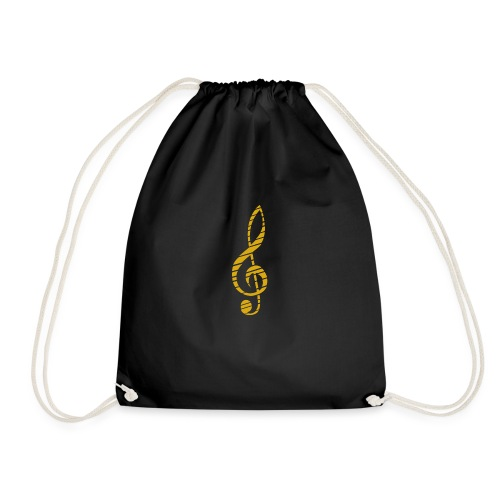 Goldenes Musik Schlüssel Symbol Chopped Up - Drawstring Bag