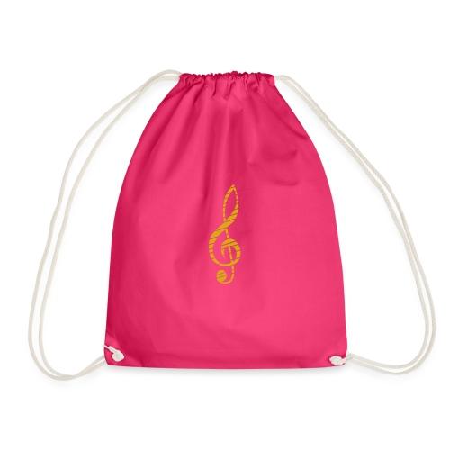 Goldenes Musik Schlüssel Symbol Chopped Up - Drawstring Bag