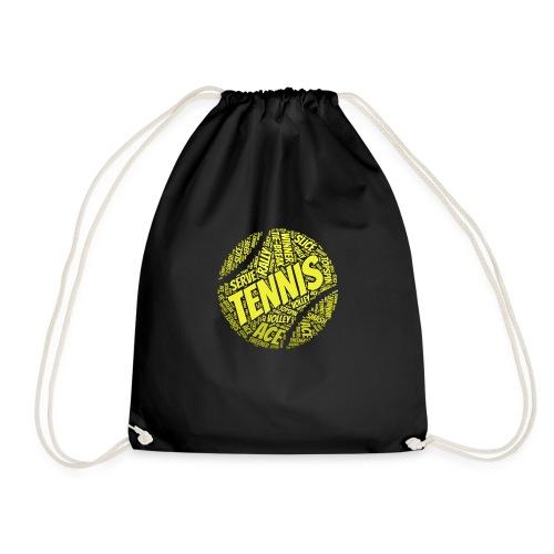 Tennisball Typo-Style - Turnbeutel