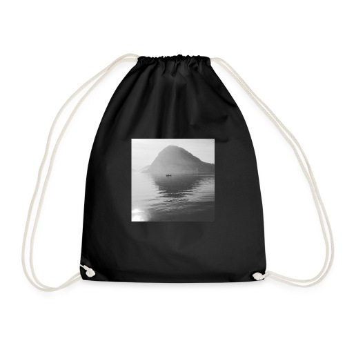 quiet lake - Drawstring Bag