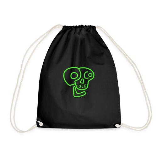 poco loco logo green - Drawstring Bag