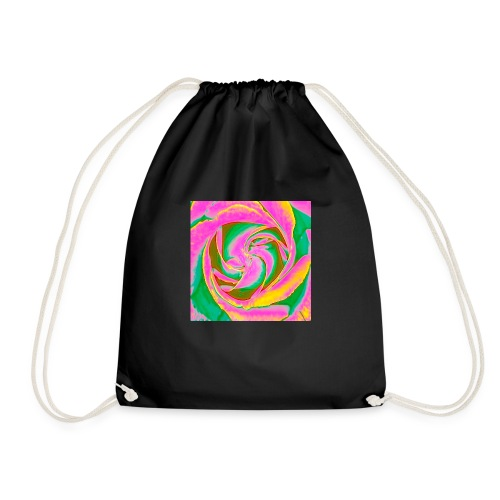 Psychedelic Rose - Drawstring Bag