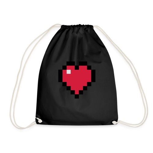 Pixelart Heart - Drawstring Bag