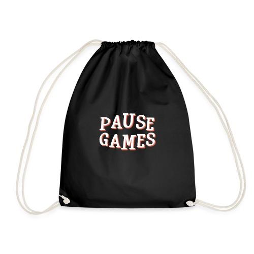 Pause Games Text - Drawstring Bag