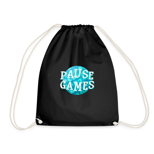 Pause Games New Design Blue - Drawstring Bag