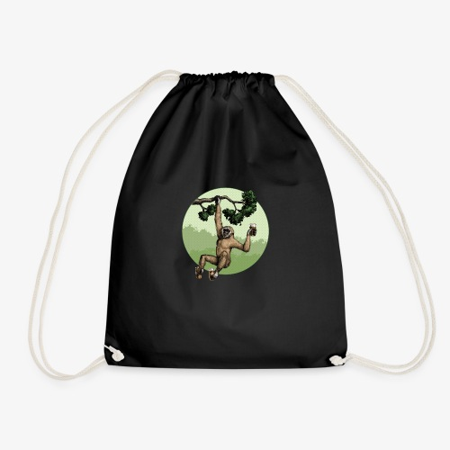 Gibbon - Drawstring Bag