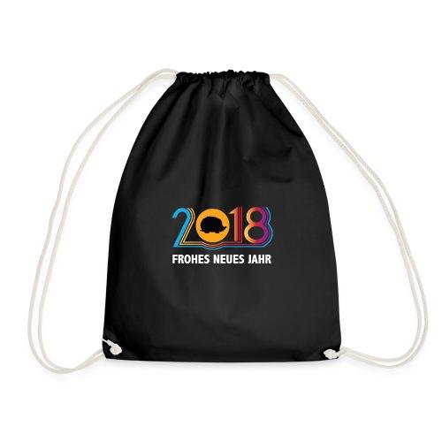 Frohes neues Jahr 2018 Igeldesign - Turnbeutel