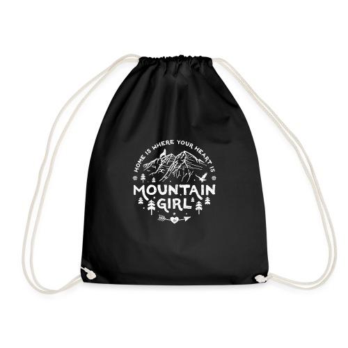 Mountain Girl Shop w - Drawstring Bag
