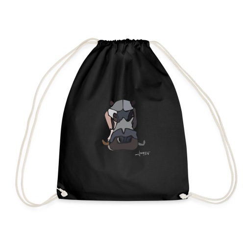 Hippopotame by joaquin - Drawstring Bag