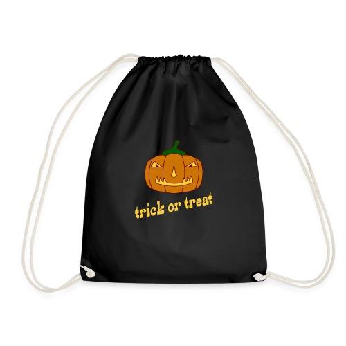 Halloween trick or treat mit Kürbis - Turnbeutel