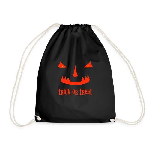Halloween trick or treat und gruseliges Gesicht - Turnbeutel