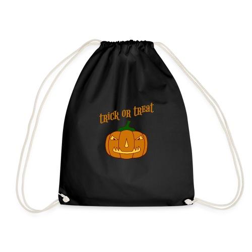Halloween trick or treat und Kürbis - Turnbeutel