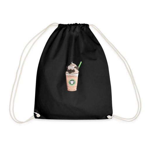 Catpuccino bright - Drawstring Bag