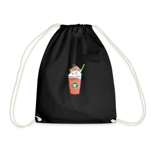 Catpuccino White - Drawstring Bag