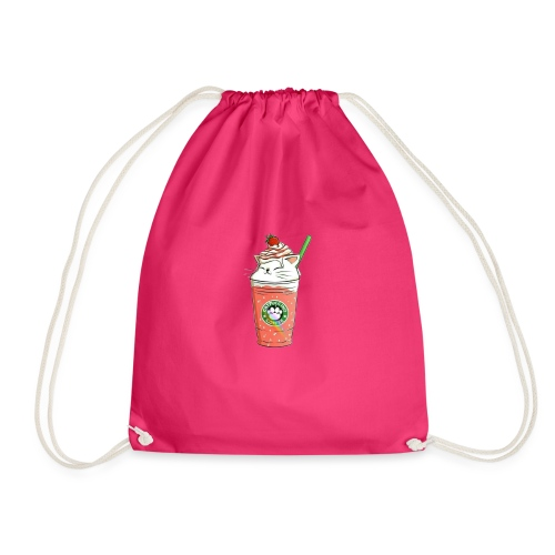 Catpuccino White - Drawstring Bag