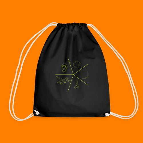 Rock paper scissors lizard spock - Drawstring Bag