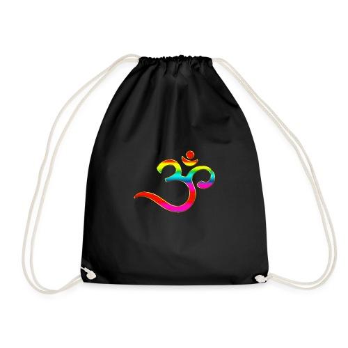 Om Mantra Symbol Yoga Regenbogen - Turnbeutel
