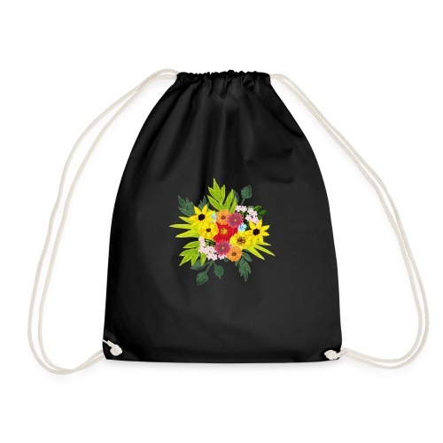 Flower_arragenment - Drawstring Bag
