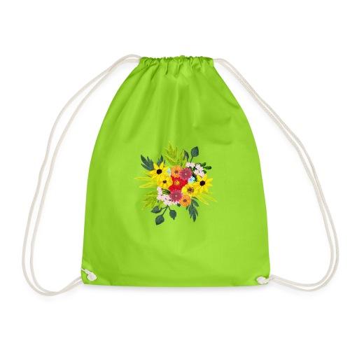 Flower_arragenment - Drawstring Bag