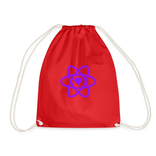 Sketch2React Dark Purple Logo - Drawstring Bag