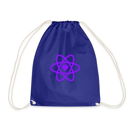 Sketch2React Dark Purple Logo - Drawstring Bag