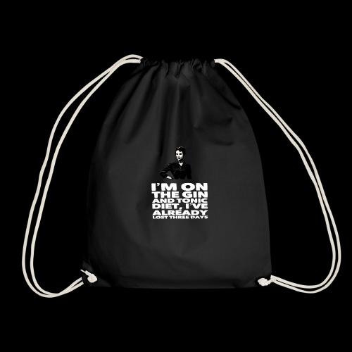 Funny Gin meme vintage lady retro design - Drawstring Bag