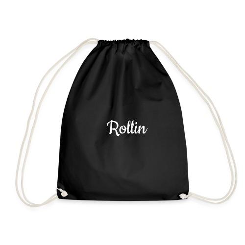 rollin sports t-shirt - Drawstring Bag