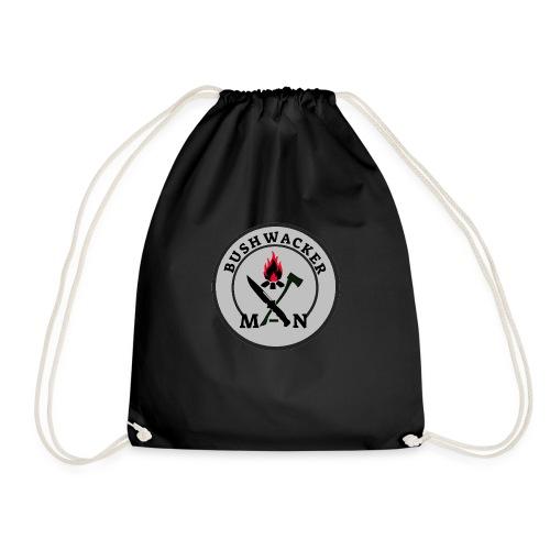 bushwackers logo Grey - Drawstring Bag