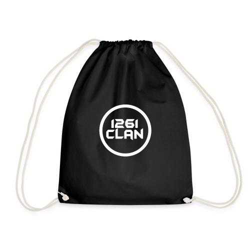 1261Clan White ring transparent - Drawstring Bag