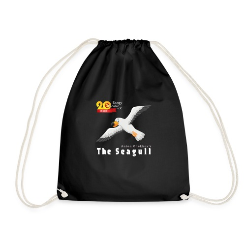 The Lucky Seagull black - Drawstring Bag