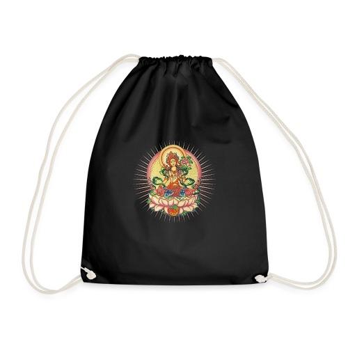 Tara Tibet Buddhismus Lotus Meditation Yoga - Turnbeutel