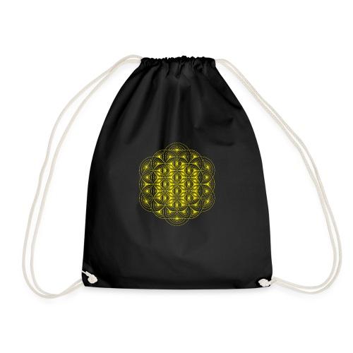 Flower of Life Dimensions Yellow - Drawstring Bag