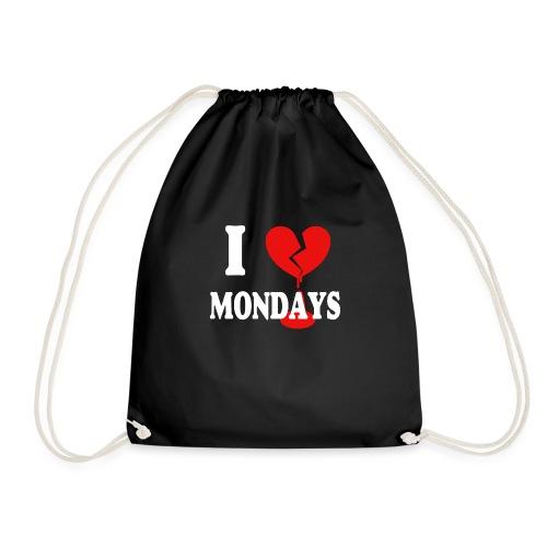 I hate Mondays (white) - Turnbeutel