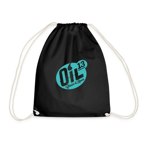 Oil13 Logo Scudo001 transparente azul 001 - Mochila saco