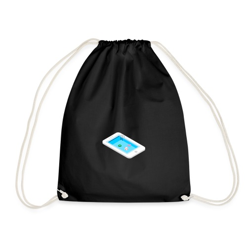 Iphone pool - Drawstring Bag