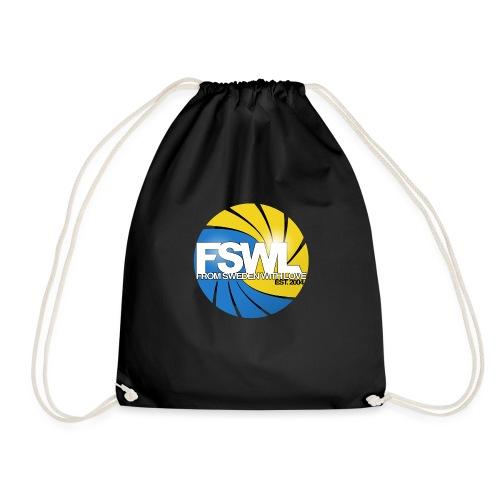 Transparent logo for From Sweden With Love (FSWL). - Gymnastikpåse