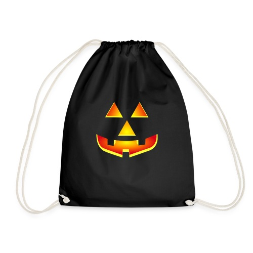 Smiling pumpkin - T Shirt, Halloween, Scary Face - Drawstring Bag