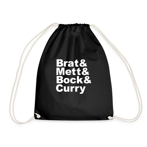 Brat & Mett & Bock & Curry Girlshirt - Turnbeutel