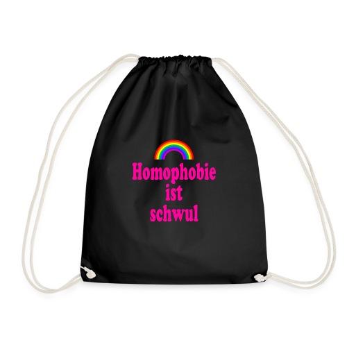 Homophobie ist schwul - Turnbeutel