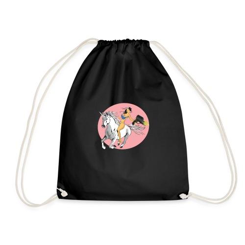 unicorn laser bikini girl - Drawstring Bag