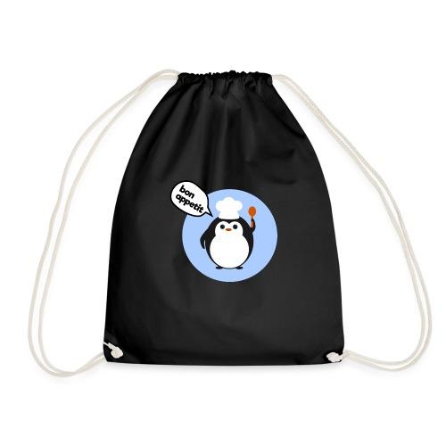 Cute penguin chef - Drawstring Bag