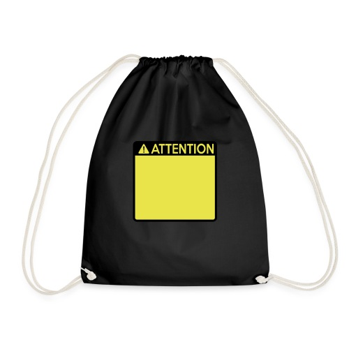 Attention Sign (2 colour) - Drawstring Bag