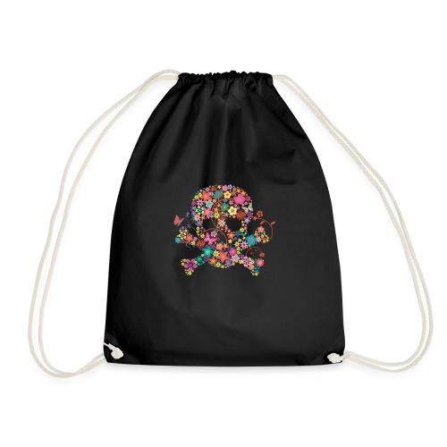 Tête de mort avec des fleurs - flower skull - Sac de sport léger
