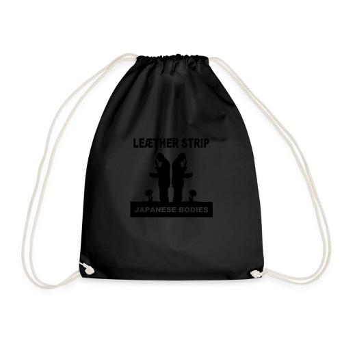 Leaether Strip Japanese Bodies - Drawstring Bag