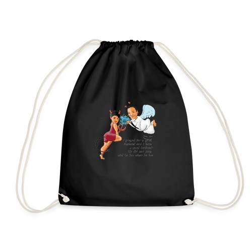 I prayed for a good husband - Drawstring Bag