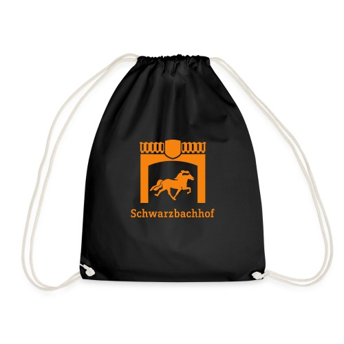 Logo Schwarzbachhof Orange - Turnbeutel