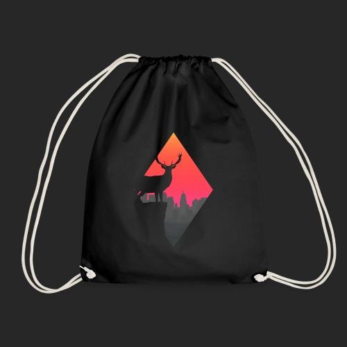 Sunset Deer - Drawstring Bag