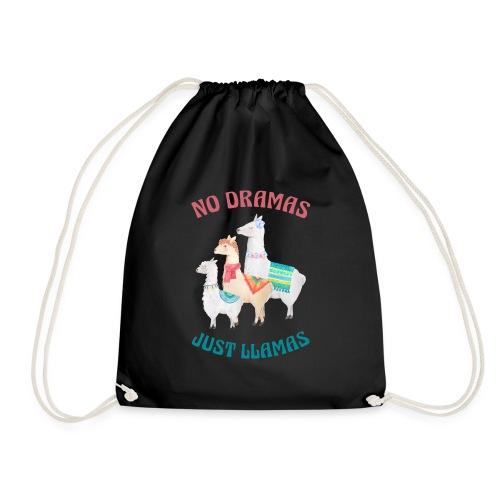 No Dramas Just Llamas - Drawstring Bag