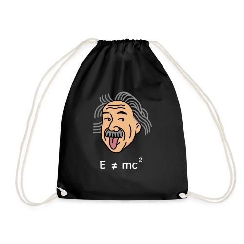 albert einstein e=mc square t shirt - Drawstring Bag