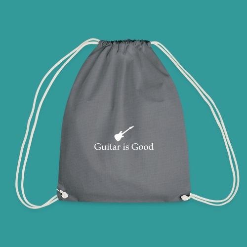 Guitar is Good Logo With Text - Drawstring Bag